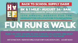 Advertisement for the Fun Run and Walk.